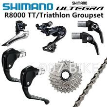 SHIMANO R8000 TT/Triathlon Groepset ULTEGRA R8000 Derailleurs BSR1 Versnellingspook TT79 Remhendels ROAD Fiets 25T 28T 30T 32T