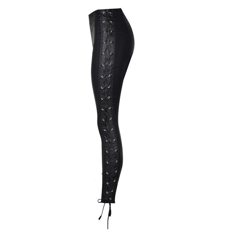 Estilo Elástico Cuero Alto Talle Imitación La Negro De Pu Mujer Venda Pantalones Slim Nuevo gRfdwqc6g