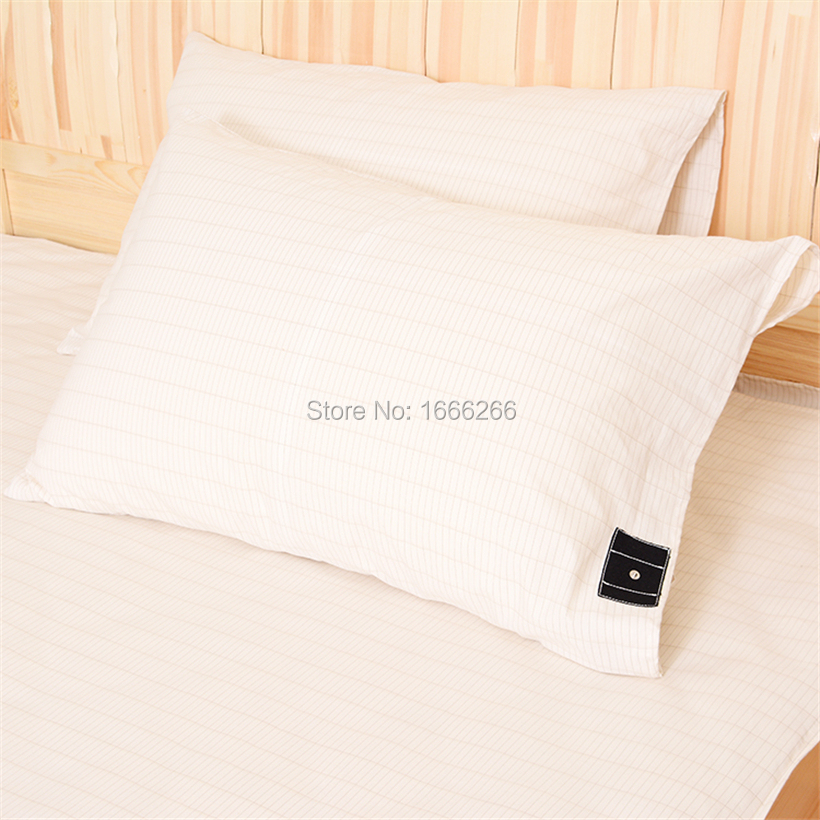 Ground Earth Pillowcase Silver Cotton Linen Pillow Cover Home Textile Living With 2 Meter Ground Cable For ImProvement Sleep