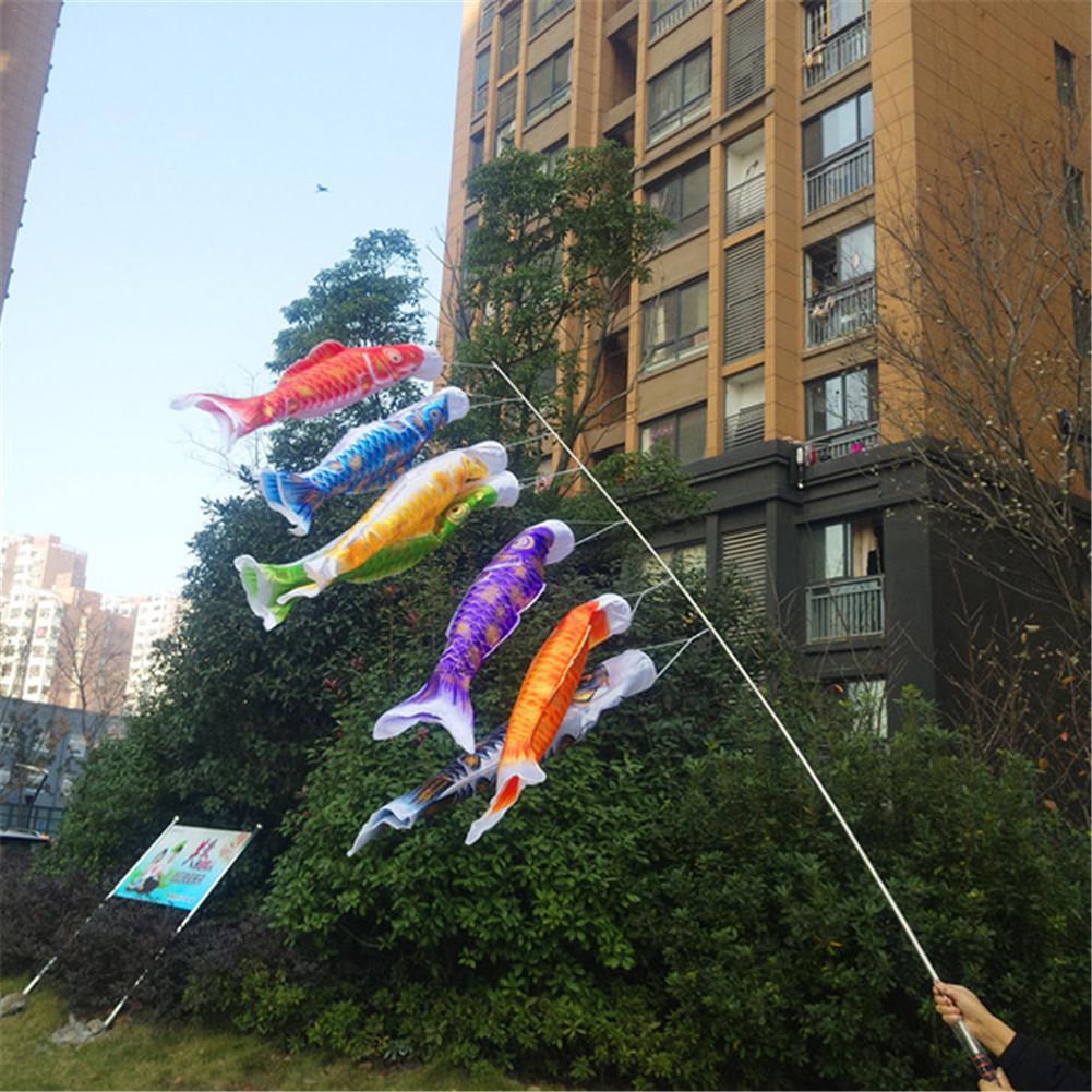 3D Hot Stamping Carp Banner Japanese Restaurant Carp Spray Windsock Streamer Cartoon Colorful Fish Flag Koinobori Kite