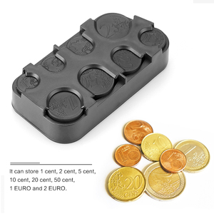 Image 2 - Car Interior Coin Holder Case Storage Box Container Dispenser Organizer (For Euro Coins)