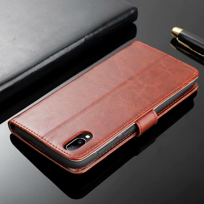 For Vivo Y97 Case Luxury Retro PU Leather Wallet Flip Case Soft TPU Back Cover For Vivo Y 97 Y97 Stand Phone Cover in Flip Cases from Cellphones Telecommunications