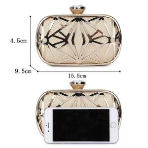 Image 4 - ผู้หญิงกระเป๋าประณีตหนังกระเป๋าถือโลหะHollow Designerงานแต่งงานกระเป๋าถือคลัทช์