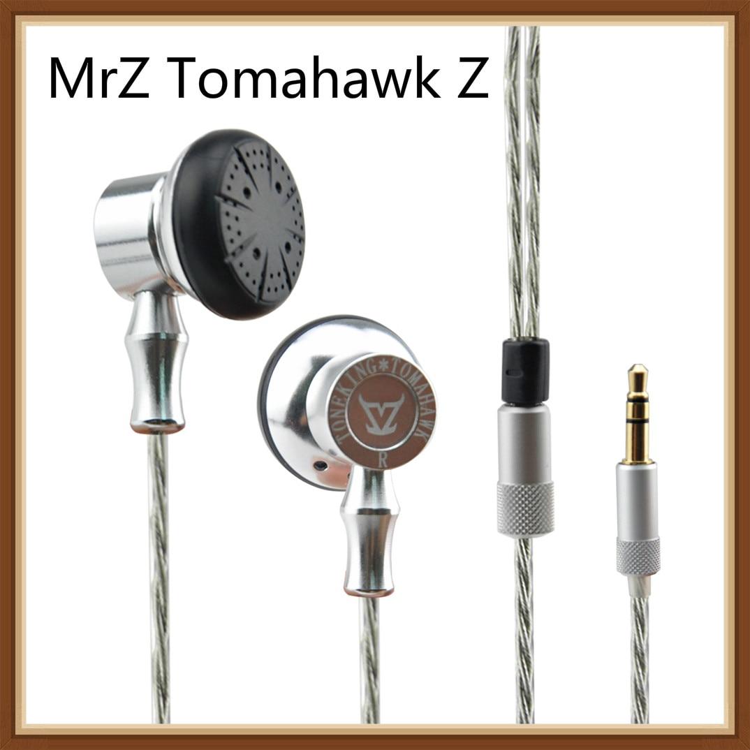 Toneking MrZ Tomahawk Z Platte Kop Hifi Muziek Studio In Ear Oordopjes Oortelefoon Legering Tune Oordopjes zoals Anker oortelefoon MX98-in Oortelefoon van Consumentenelektronica op  Groep 1