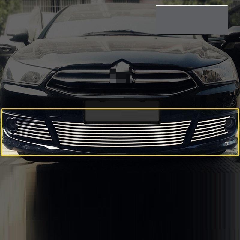 Decorative Automovil Front Bumper Grille Exterior Dashing Parts Trim Protecter Car Styling Sticker Strip 12 13 FOR Citroen C4
