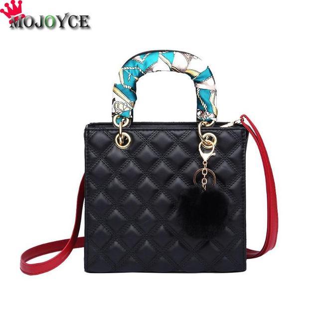 Women Saffiano Diamond Lattice Leather Handbags Mini Square Crossbody  Messenger Bag Fashion Shoulder Bag Purse Bolsa Feminina 544c03c8a0