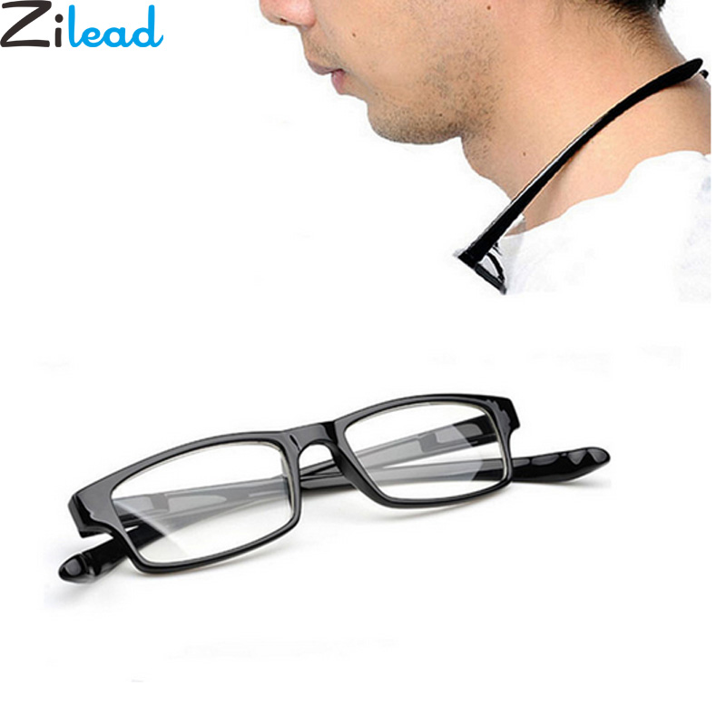 Zilead Ultralight Halter Reading Glasses Comfy Hanging Neck Anti-fatigue HD Presbyopia Glasses For Elder+1.0to+4.0 Unisex