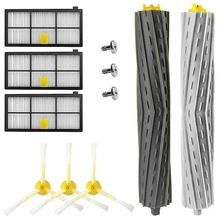 Accessory For Roomba 800 805 850 860 861 866 870 871 880 890 961 964 980 981 985 (800&900 Series) Replacement Vacuum Cleaner A 5x side brushes 5x filters replacement for irobot roomba 800 900 860 880 980 960 870 robotic cleaner parts accessories