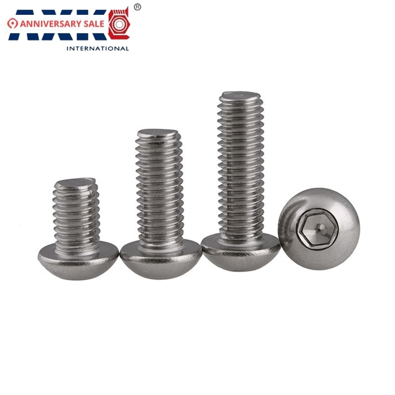 Stainless Steel Panel Screw Slotted Drive Plain Finish Pack of 5 Knurled Head 3//4 Length 1//4-20 Threads