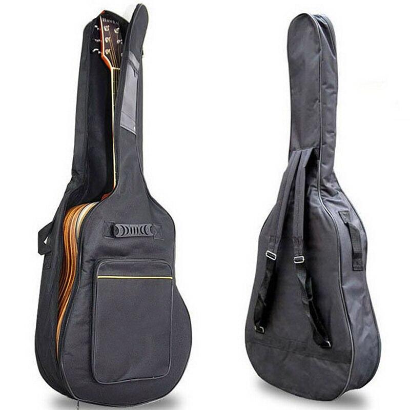 "Waterproof Guitar Case Double Strap Padded Black Guitar Case Backpack Shoulder Strap Classical Guitar Bag For 40"" 41"""