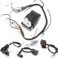 Motorcycle 150cc 200cc 250cc Ignition Coil CDI Regulator Rectifier Solenoid Relay Wiring Harness for ATV Quad Bike