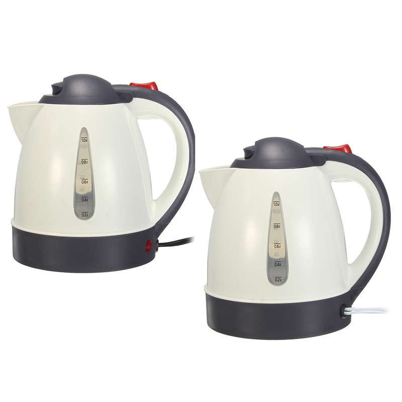cheapest 1000ML Car Hot Kettle Portable Water Heater Travel Auto 12V 24V for Tea Coffee 304 Stainless Steel Large Capacity Vehicle
