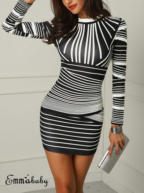 Retro Hot Sexy Women Stretchy Printed Package Hip Bodycon Bandage Mini Dress  Girls Short Sexy Club 0c61a0058ece