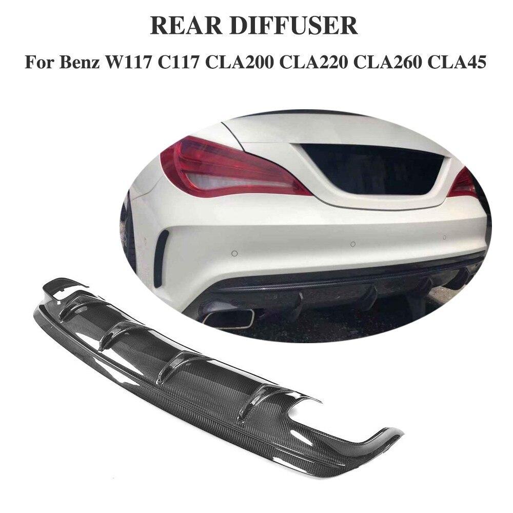 Carbon Fiber Diffuser for Mercedes Benz CLA W117 Sport CLA200 CLA250 Sport CLA45 AMG Rear Bumper Lip Spoiler