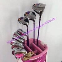New Women Golf clubs GIII complete clubs set Golf Driver+Fairway wood+irons Clubs GII Golf Set Graphite Golf shaft Free shipping