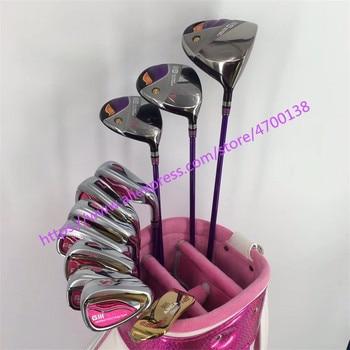 Nuove Donne Golf club GIII completo set di mazze Da Golf Driver + Fairway Wood + Club ferri da stiro GII Set Da Golf Grafite golf shaft Spedizione gratuita