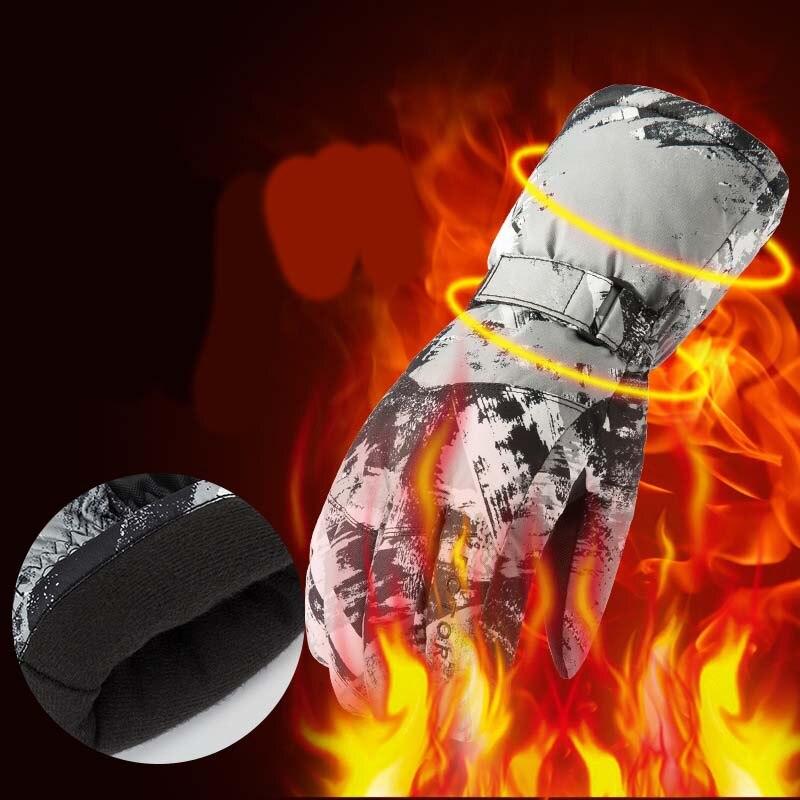 Winter voller finger zipper touch screen männer und frauen winddicht warme fleece bergsteigen ski wasserdichte handschuhe