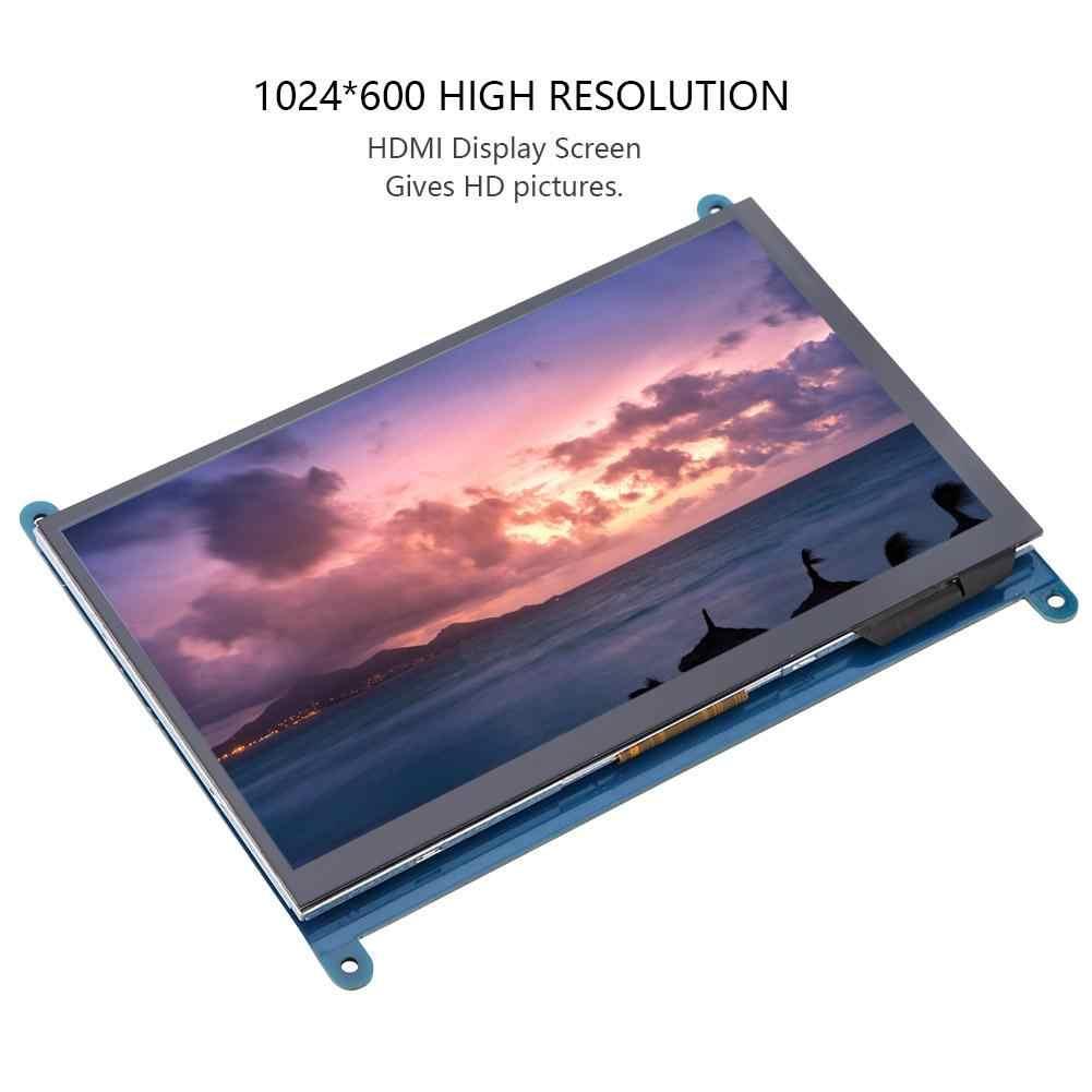 7 дюймов Full View ЖК-дисплей ips Сенсорный экран для Raspberry Pi 1024*600 HD HDMI Дисплей емкостный монитор 5-точечный сенсорный Управление 2019