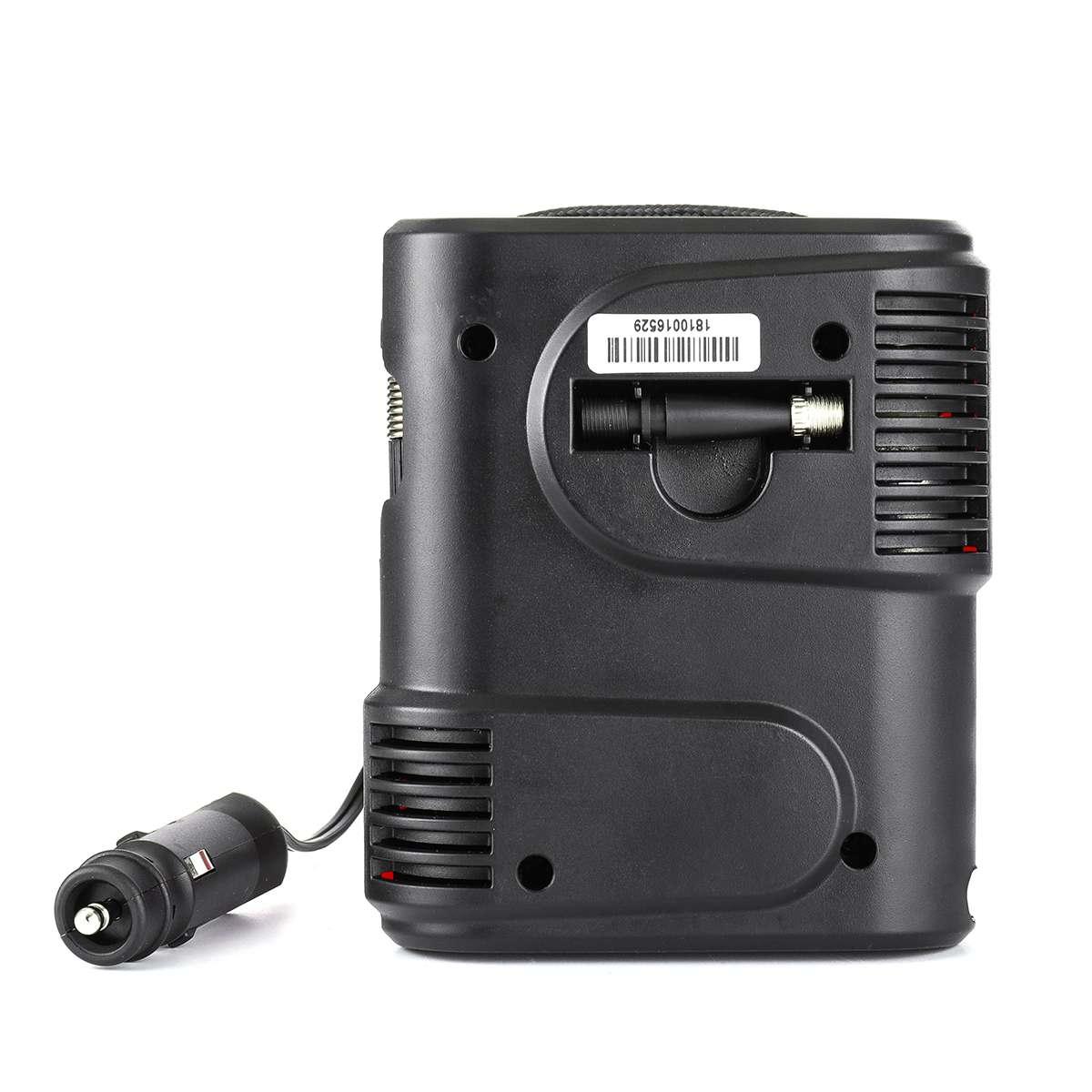 Image 4 - DC12V 100PSI автомобильный воздушный компрессор, надувной насос на выходе, компактный портативный автомобильный насос для шин, насос для автомобильных велосипедов, мотоциклов-in Воздушный насос from Автомобили и мотоциклы