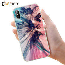 CASEIER Colorful Ink Phone Case For iPhone 6 6s Plus 7 8 Plus X Soft Silicone For iPhone 6 6s 5 5s SE  Capinha Accessories  Capa oaxis inkcase ivy e ink reader for iphone 8 7 6s