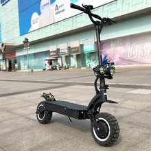 Janobike 11 inch off-road double-drive electric scooter 60V/3600W powerful folding road electric motorcycle scooter for adults(China)