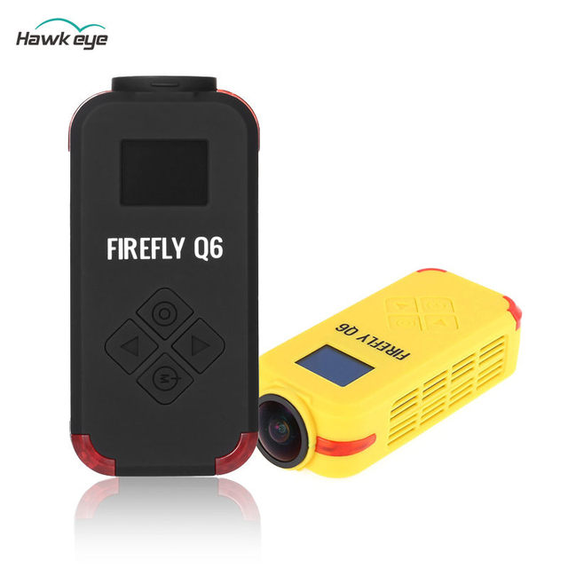 Hawkeye FIREFLY Q6 Airsoft 1080P / 4K HD Multi functional Sports Camera Action Cam Black Yellow For FPV Racer Part Drone Accs