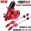 Fastace Hub DA201 Hoge Kwaliteit Verzegelde Lager Schijfrem 24 28 32 Holes MTB Mountainbike Hubs 8 9 10 11 Speed Fiets Hub