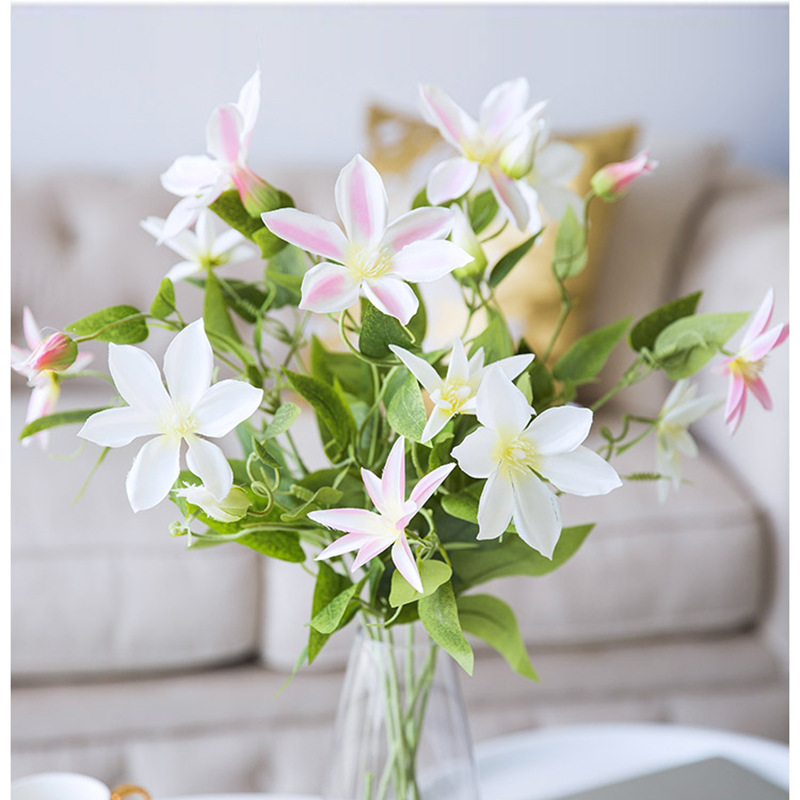 Artificial Flowers Anoectochilus Roxburghii Single Fresh Elegant Living Room Bedroom Corsage Silk Flower Drie