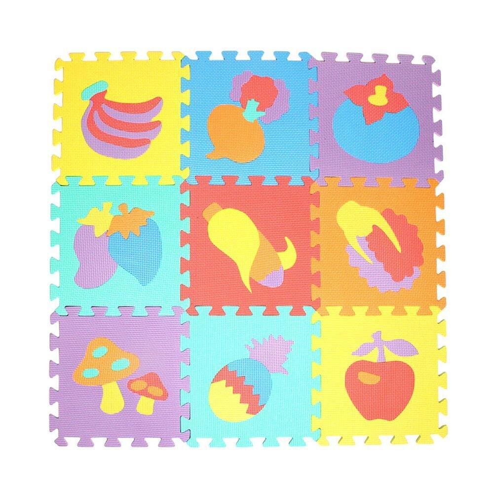 10 pcs Padrão Animal Puzzle de Espuma Tapete Crianças Tapete Divisão Conjunta Eva Jogar Baby Mat Interior Macio Atividade Puzzle Esteiras