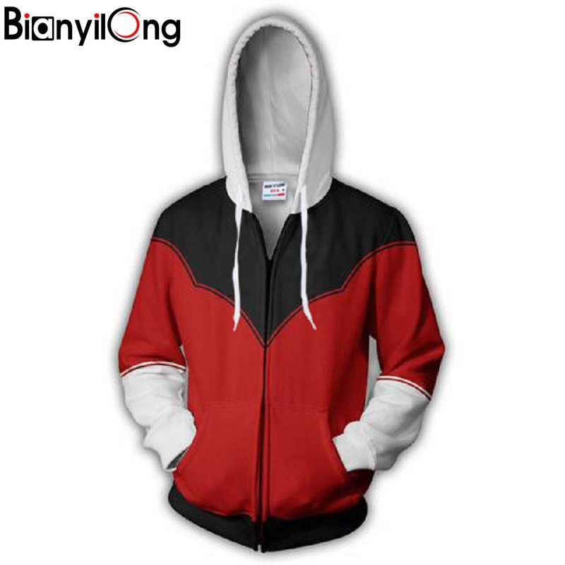 Bianyilong 2018 New Fashion Cool Sweatshirt Hoodies Men Women 3d Print Jiren Tee Hot Style Streetwear Long Sleeve Clothing