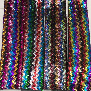 New arrival 6 colors sequins pattern dress fabric AF30 Free shipping colourful design African Tulle Fabric