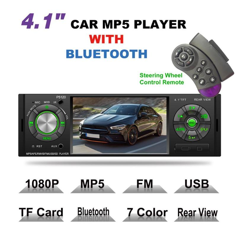 VODOOL P5120 4.1 Touch Screen Car Radio 1DIN Stereo Video MP5 Player Autoradio Multimedia Player FM Bluetooth USB TF AUX CameraVODOOL P5120 4.1 Touch Screen Car Radio 1DIN Stereo Video MP5 Player Autoradio Multimedia Player FM Bluetooth USB TF AUX Camera