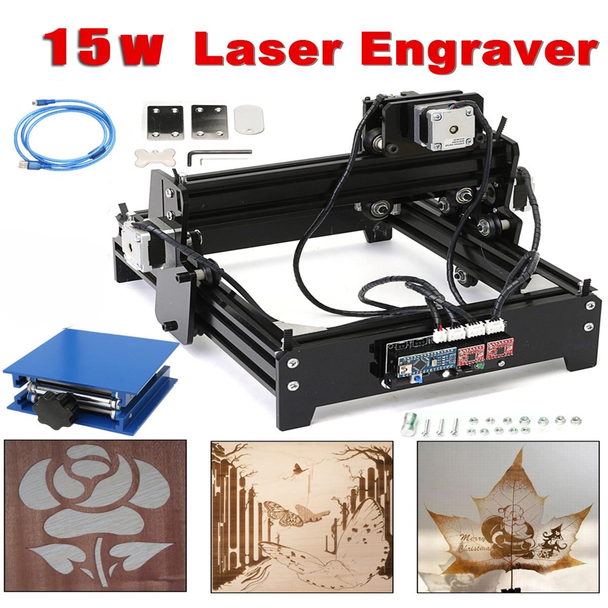 Zone de gravure 14x20 cm 15 W Laser AS-5 USB bureau 15000 mW CNC graveur Laser bricolage Machine de marquage pour métal pierre bois
