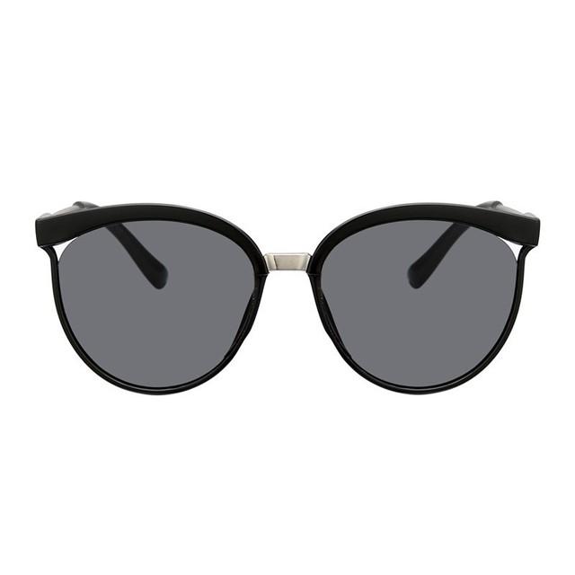 Sexy Black Cat Eye Sunglasses Women Shades Famous Brand Luxury New Designer Trendy Sun Glasses Female Small White Points UV400