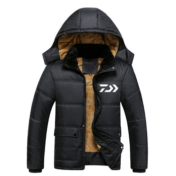 Daiwa Winter Fishing Jacket Outdoor Sports Warm Coat Windproof Fishing Clothing Plus Waterproof Fleece Inside Snow Jacket