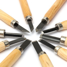 Utility 10pcs/set Durable Wood Carving Chisels Knife For Basic Wood Cut DIY Tools and Detailed Woodworking Hand Tools