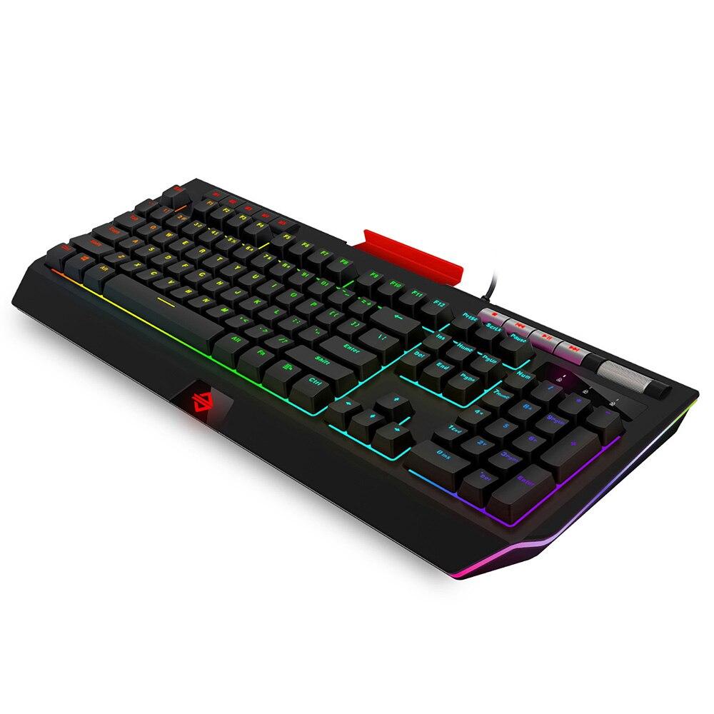 Ajazz AK525 механическая клавиатура RGB Light USB Проводная игровая клавиатура с подсветкой с держателем телефона мультимедийный ролик программируе...