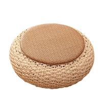 Handmade Tatami Straw Cushion Balcony Floor Thick Rattan Cushions Straw Woven Futon Grass Pucao Meditation Mat