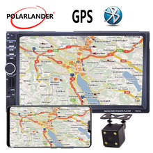 "7"" inch 2 Din Car Radio MP5 MP4 Player Bluetooth Video USB TF FM stereo steering wheel control 8G map card to GPS mirror link"