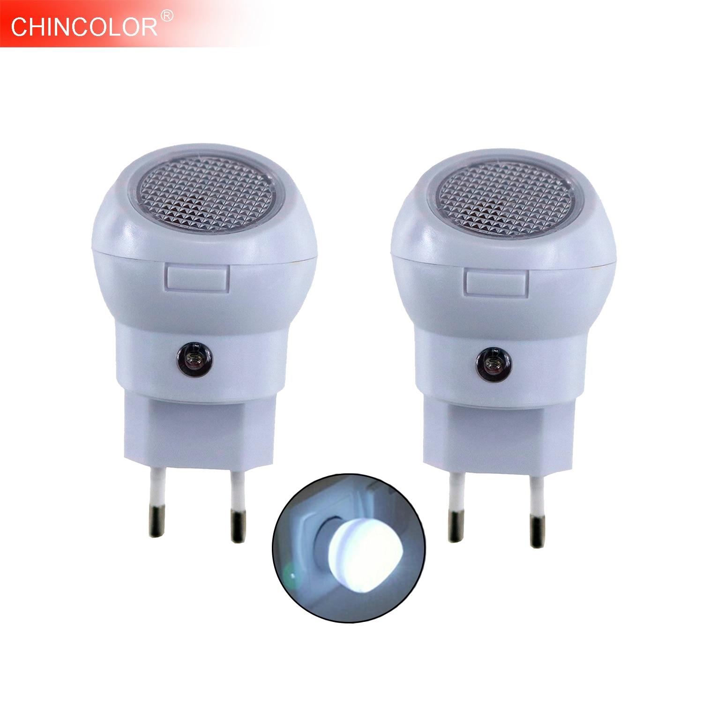Light Sensor LED Night Light 360 Degree Rotating Lamp Lighting Nightlight Bulb AU/EU/US/UK Plug For Baby Kid Bedroom JQ