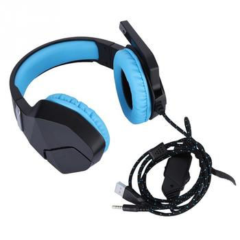 Bass Noise Reduction Earphone Surround Gaming Telescopic Headset Wired Headphone Earphone for PS3PS4Xbox One