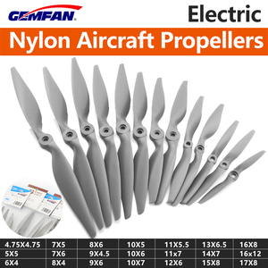 Gemfan Apc Nylon Propeller 8X4/8X6/9X4.5/9X6/10x5/10X6/10x7/11x5.5/12x6/13x6.5/14x7/15X8/16X8/17X10Props For RC Model Airplane(China)