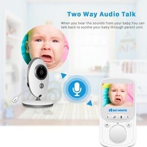 Image 2 - BESDER VB605 Wireless Video Baby Monitor 2,4 zoll Mini Kamera 2,4 GHz Intercom Temperatur Überwachung Nachtsicht Musik Player