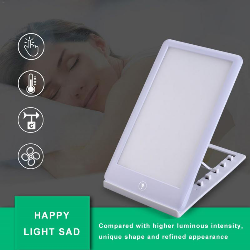 SAD Therapy Lamp 3 Modes Seasonal Affective Disorder Phototherapy 6500K Simulating Natural Daylight US Plug Happy Light SAD
