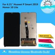 """6.21 """"original m & sen para huawei p inteligente 2019 honra 10 lite RNE L21 RNE L23 tela lcd + painel de toque digitador da tela ferramentas"""