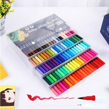12/18/24/36/48/72/100PCS Colors Fine Liner Drawing Painting Watercolor Markers Pen Art Dual Tip Brush Pen School Supplies 04350-in Art Markers from Office & School Supplies on Aliexpress.com | Alibaba Group
