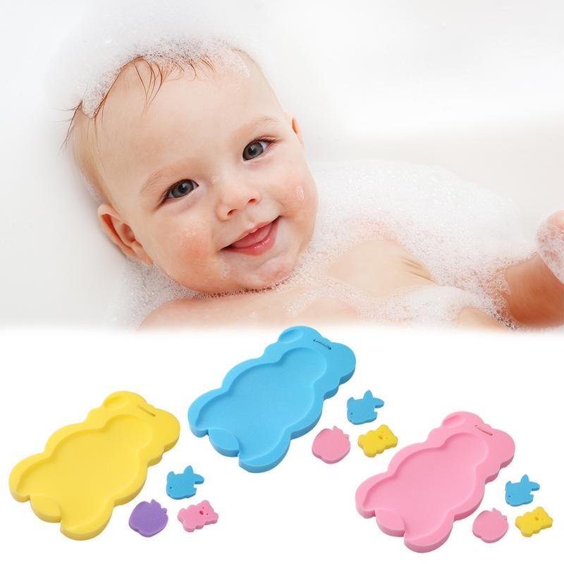Creatief Baby Draagbare Bad Douche Bed Kussen Mat Bloem Kussen Pad Pasgeboren Baden Antislip Bloeiende Badkamer Bad Ondersteuning Zetel
