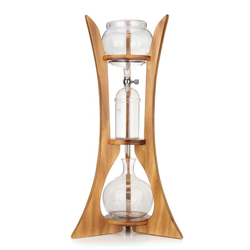 Café goutte à goutte cafetière verre Machine à brassage froid goutte à goutte glace Siphon filtre papier maison cuisine café outil en bois cadre outils