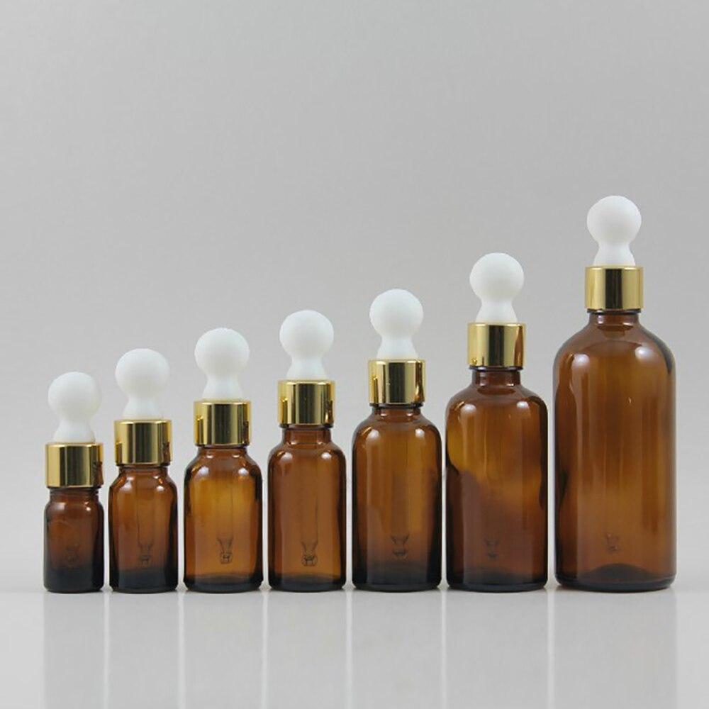 atacado 50 pcs 100 ml marrom ambar frasco conta gotas em forma redonda recipiente 100 ml