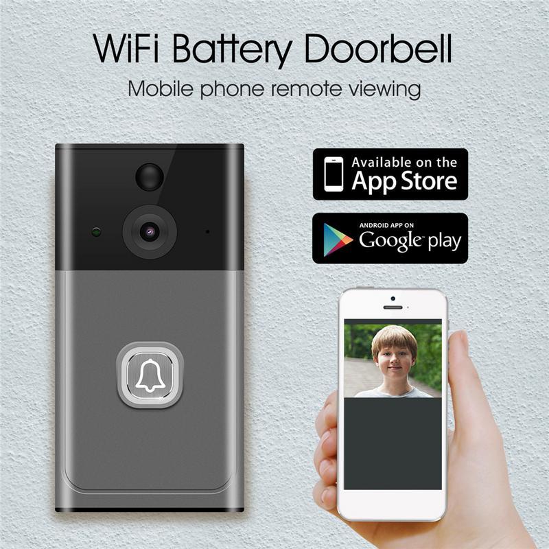 Door Bell WIFI Wireless Doorbell Intelligent Low-Power Video Doorbell Mobile Phone Remote Video Intercom MonitoringDoor Bell WIFI Wireless Doorbell Intelligent Low-Power Video Doorbell Mobile Phone Remote Video Intercom Monitoring